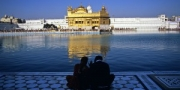 Sikh couple at the Golden Temple, Amritsar, India, 2010