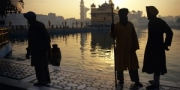 Sunrise at the Golden Temple, Amritsar, India, 2010