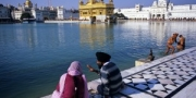 Morning life at the Golden Temple, Amritsar, India, 2010