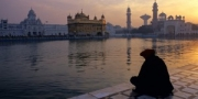 Morning meditation at the Golden Temple, Amritsar, India, 2010