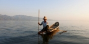 Intha fisherman, Inle lake, Myanmar, 2014