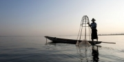 Intha fisherman, Inle lake, Myanmar, 2014